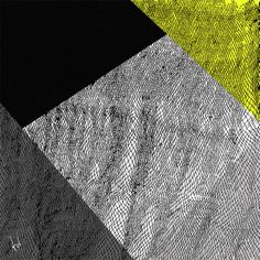 Silk twill diamond yellow hand-drawn scarf by Marlene Huissoud