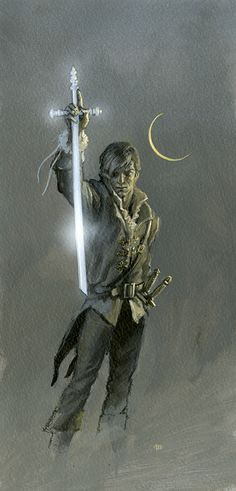 CALLANDOR RISING: a figure study by Michael Whelan for A Memory of Light by Robert Jordan and Brandon Sanderson.