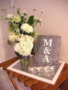 M&A engagement party entrance table