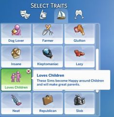 Lana CC Finds Loves Children by Sims_Lover (Sims Loves Children Trait Lifestyle trait for Teens, Young Adult, Adult, Edler These Sims become Happy around Children and will make great parents. Sims 4 Cas, My Sims, Sims Cc, Sims 4 Game Mods, Sims Mods, Sims Traits, Sims 4 Children, Children Clothing, Sims 4 Gameplay