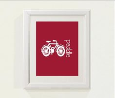 Red Peddle Bike Nursery decor baby nursery by SweetSiennaPrints, $18.00