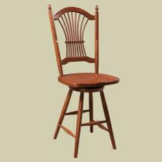 Heritage Wheat Sheaf Windsor Swivel Dining Stool
