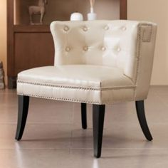 Madison Park Bianca Shelter Slipper Chair
