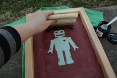 Katydid and Kid: Screen Printed Robot T-Shirts