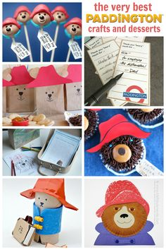 Super cute Paddington bear crafts and snacks!