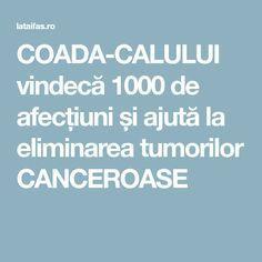 COADA-CALULUI vindecă 1000 de afecțiuni și ajută la eliminarea tumorilor CANCEROASE Cancer, Pharmacy