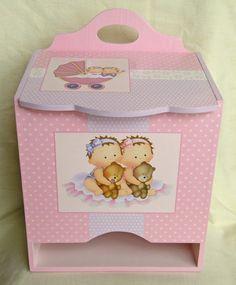 diaper box Decorative Household Items, Decorative Boxes, Kit Bebe, Decoupage Box, Painted Boxes, Baby Design, Vintage Wood, Trinket Boxes, Girl Nursery