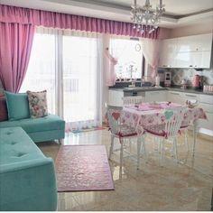 Mutfak perde Home Design, Interior Design, Kitchen Room Design, Kitchen Decor, Cottage Kitchens, Shabby Chic Kitchen, Kitchen Curtains, Luxury Kitchens, Dream Decor