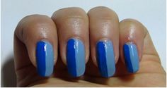 half light blue half dark blue nail - Google Search