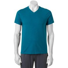 Big & Tall Apt. 9® V-Neck Tee ($9.99) ❤ liked on Polyvore featuring men's fashion, men's clothing, men's shirts, men's t-shirts, mens v neck shirts, big tall mens shirts, mens shirts, mens big and tall shirts and mens tall t shirts