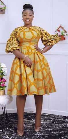 Latest African Fashion Dresses, African Dresses For Women, African Print Fashion, African Wear, Nice Dresses, Short Dresses, Summer Dresses, African Patterns, Ankara Gown Styles
