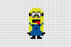 Minion Pixel Art from BrikBook.com #Minion #yellow #DespicableMe #animated #Gru #pixel #pixelart #8bit   Shop more designs at http://www.brikbook.com