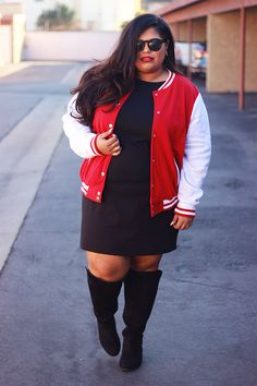 Varsity Jacket Outfit by Glam by Runa