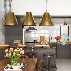 Good day, everyone! My name is Brian Patrick Flynn and I'm an interior designer based in Atlanta, GA and Reykjavík, Iceland. Today I'm sharing one of my recent projects, an industrial loft remodel designed for my art director Ashley Bothwell. The kitchen is our favorite spot due to its casualness, simple materials and versatile color scheme. Check back all day for more peeks at the space. — @bpatrickflynn (📷: @rusticwhite) #HBloveskitchens