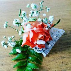 Rose lace buttonhole