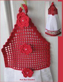 Pink Rose Crochet: Toalha Batemão com Flores para o Natal