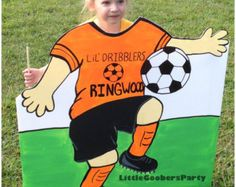soccer photo booth props personalized with your by thepartyevent