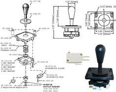 Diagram showing the assembly and intallation for Happ's Ultimate Joystick.