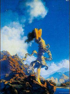 1929年作品 マックスフィールド・パリッシュ画 『エクスタシー』