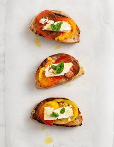 tomato, feta & honey toasts
