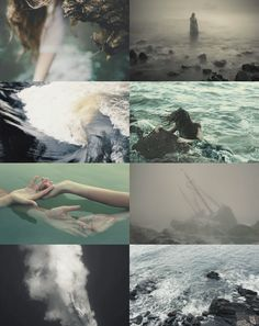 "panesthetic: "" Beings of myth; Sirens, Seirēnes ""I am a siren, a mermaid; I know that I am beautiful while basking on the ocean's waves and I know that I can eat flesh and bones at the bottom of the sea."" ― C. JoyBell C. """