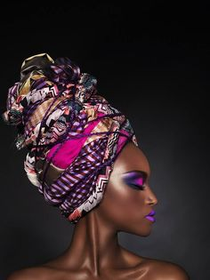 model in headwrap