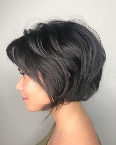 46 Perfect Short Hairstyles for Fine Hair in 2019 – bob hairstyles for fine hair – 46 Perfekte Kurzhaarfrisuren Short Hairstyles For Thick Hair, Short Brown Hair, Haircuts For Fine Hair, Latest Hairstyles, Hairstyles Haircuts, Short Hair Cuts, Short Hair Styles, Short Fine Hair, Short Textured Hair