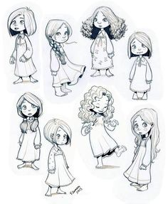 Image result for drawings little girls