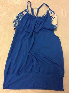 Lululemon 8 Tank No Limits Blue Laceoflage Womens Bra Top Yoga Run #Lululemon #ShirtsTops