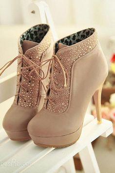 Fashion waterproof high-heeled boots
