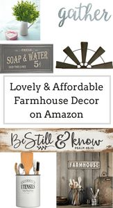 Farmhouse Decor On A Budget Great Finds From Amazon