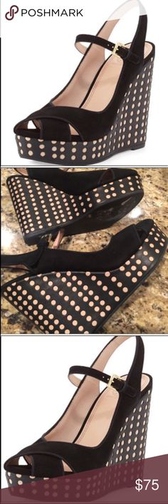 Tory Burch Peep toe These are amazing! Perfect new condition never been worn. Casual yet dressy for any occasion and totally in season right now. 5in wedge and 1in platform Tory Burch Shoes Sandals