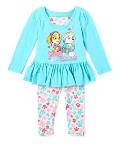 Look what I found on #zulily! Turquoise PAW Patrol Tunic & Leggings - Infant & Toddler #zulilyfinds
