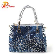 Casual Ladies Tote Bags Designer Crystal Diamond Women Messenger Bags  Famous Brand Luxury Handbags Women Bags c650e0187e