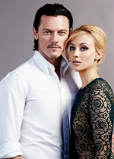 Luke Evans and Sarah Gadon  they both look lovely as husband and wife the are a cute pier of handsome and patty coupler