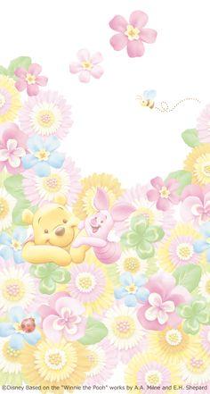 Winnie The Pooh Background, Winnie The Pooh Gif, Winnie The Pooh Drawing, Winnie The Pooh Pictures, Winne The Pooh, Winnie The Pooh Friends, Disney Phone Wallpaper, Kawaii Wallpaper, Iphone Wallpaper