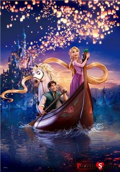 "Luminous Jigsaw Puzzles 1000 Pieces ""Rapunzel's dream"" / Disney / Toy & Puzzle"