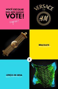 Chegou a hora de você escolher o que quer ganhar! Não escolhemos uma, mas duas peças para você eleger qual item da Versace para H&M vai querer desfilar por aí. Para participar é super simples: 1) Curta a página do blog no facebook > o endereço é esse aqui! 2) Escolha a foto do produto que quer concorrer: pulseira ou lenço. 3)Clique em compartilhar, curta e deixe um comentário na foto do produto escolhido. 4) Pronto. Você já está concorrendo. Boa sorte! ♥