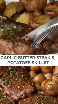 Baked Steak Recipes, Steak Dinner Recipes, Steak Dinner Sides, Beef Recipes, Cooking Recipes, Grilling Recipes, Sirloin Steak Recipes Oven, Oven Roasted Steak, Oven Baked Steak