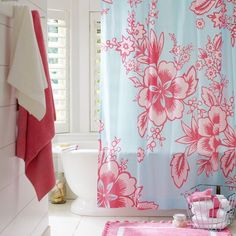 Garden Party Organic Shower Curtain currently on sale at Pottery Barn Teen