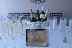 New Year's Eve Bubbly Bar. For when we quit going to the saloon for NYE