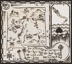 the back cover for an upcoming album by joy pearson. the ghost can't move on, and the living lover does. a drowned village, a ghost, a map and such Album Covers, Vintage World Maps, Illustrated Maps, Deviantart, Ink, Gallery, Illustration, Black, Roof Rack