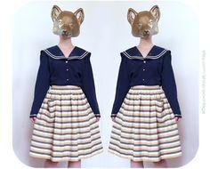 Vintage stripe skirt vintage skirt by PoVintage on Etsy, Clothing Photography, Stripe Skirt, Vintage Skirt, Vintage Outfits, Foxes, Trending Outfits, Unique, Skirts, Etsy