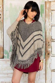 8c89272d5b5 Georgina Fringe Poncho Sweater Cardigan Sweaters For Women