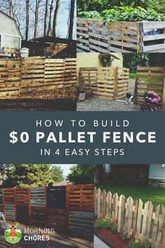 How to Build a Pallet Fence for Almost $0 (and 6 Pallet Fence Plan Ideas)::