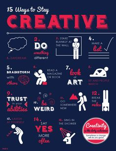 15 Ways to Stay Creative - Infographic on imgfave