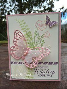 Butterfly Basics Dryer Sheets Technique & Winner of January Free Stamp Set