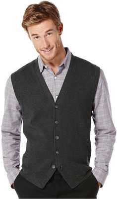 Charcoal Waistcoat by Perry Ellis. Buy for $69 from Macy's