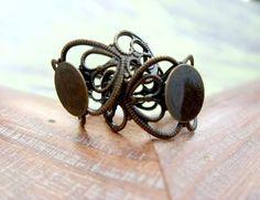 20 Filigree Ring Bases  Vintage Bronze by ShopDogCraftSupplies, $10.00