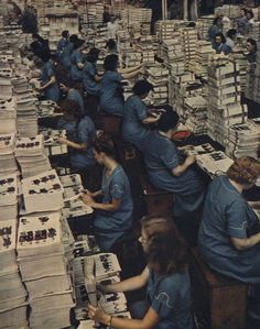 Assembling the Sears catalog…by hand!, 1942, Chicago. Torkel Korling